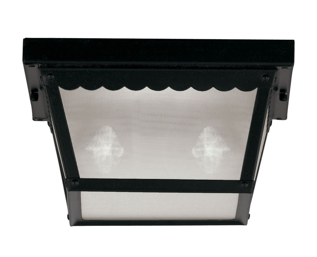 Savoy House - 07045-BLK - Two Light Flush Mount - Exterior Collections - Black