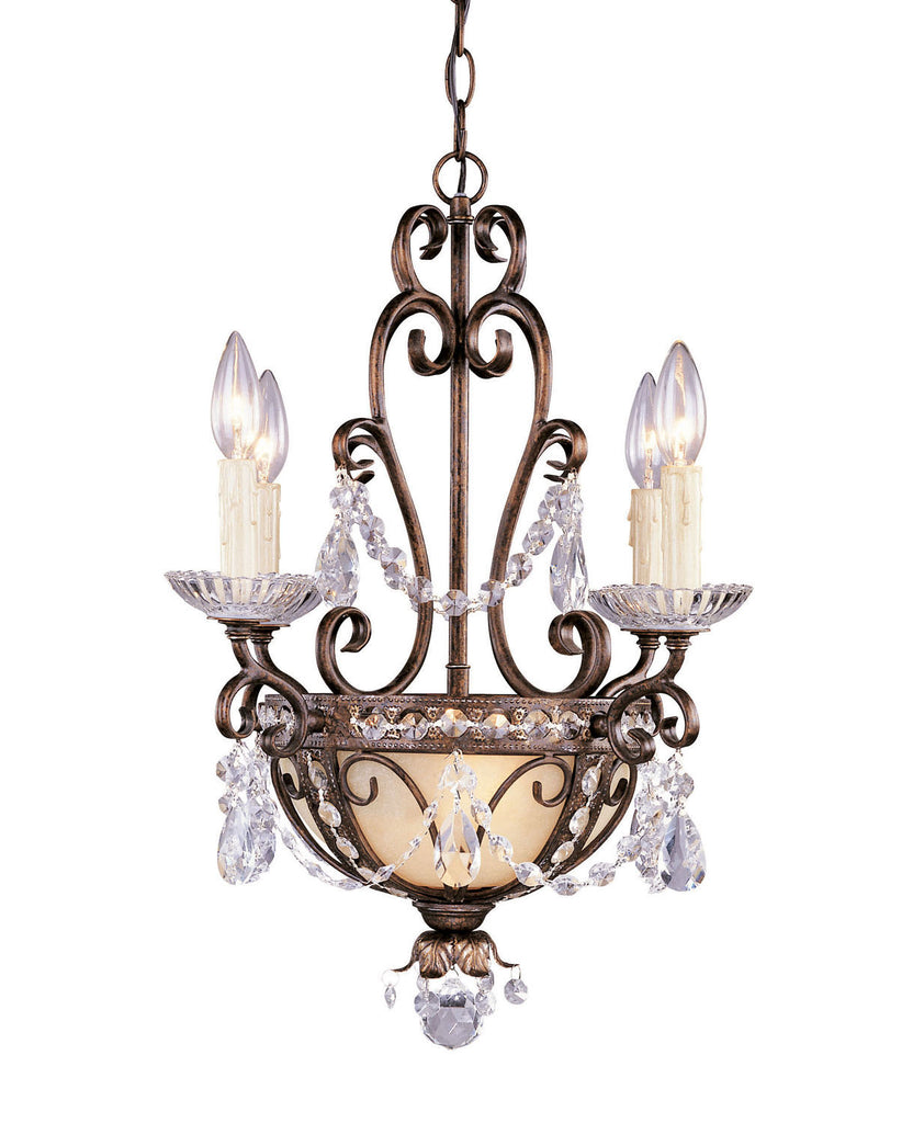 Savoy House - 1-4505-4-8 - Six Light Mini Chandelier - Mini Chandelier - New Tortoise Shell w/Silver Gold