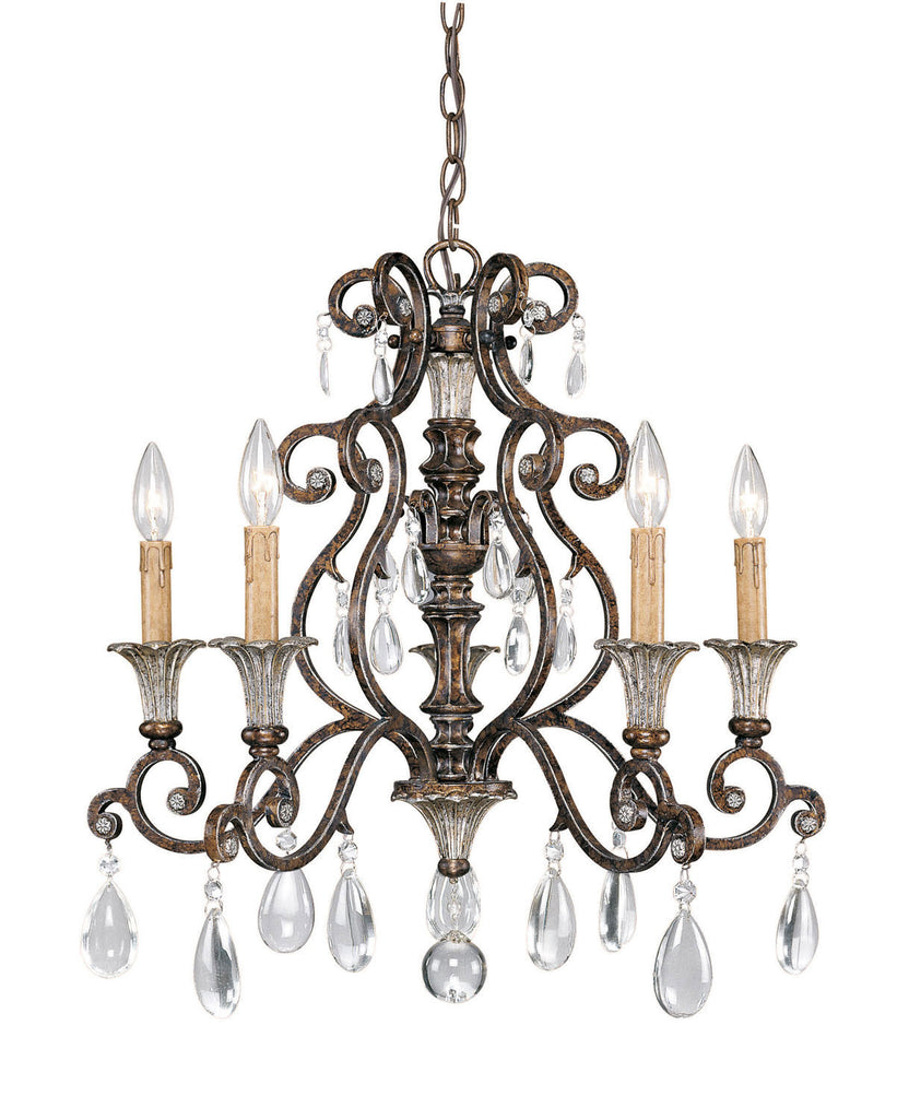 Savoy House - 1-3001-5-8 - Five Light Chandelier - St. Laurence - New Tortoise Shell w/Silver