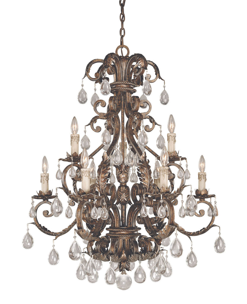 Savoy House - 1-5307-9-8 - Nine Light Chandelier - Chastain - New Tortoise Shell w/Silver