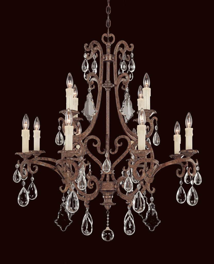 Savoy House - 1-1403-12-56 - 12 Light Chandelier - Florence - New Tortoise Shell