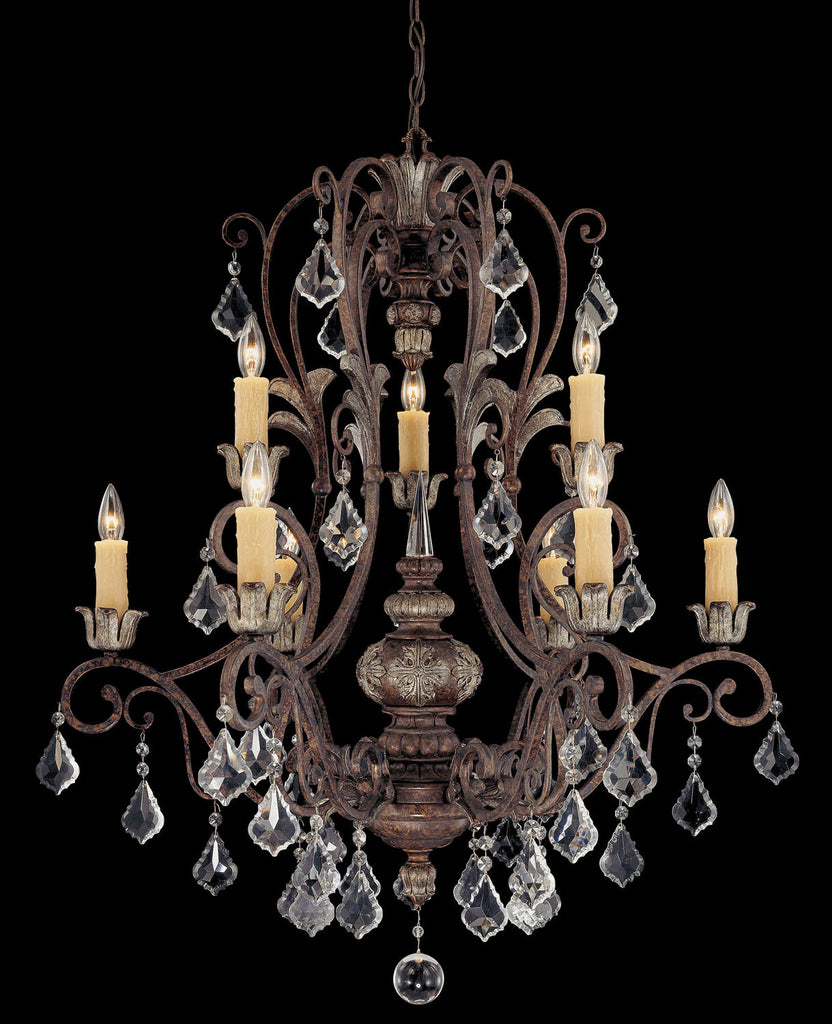 Savoy House - 1P-1558-9-8 - Nine Light Chandelier - Elizabeth - New Tortoise Shell w/Silver