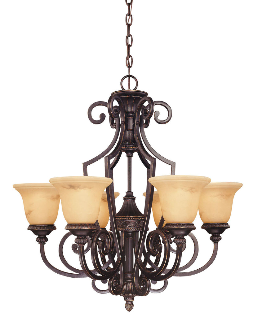 Savoy House - 1P-50201-6-16 - Six Light Chandelier - Knight - Antique Copper