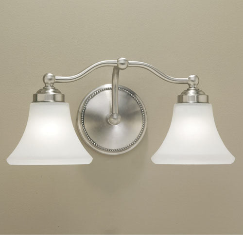 Norwell Lighting - 9662-BN-FL - Two Light Wall Sconce - Soleil - Brush Nickel