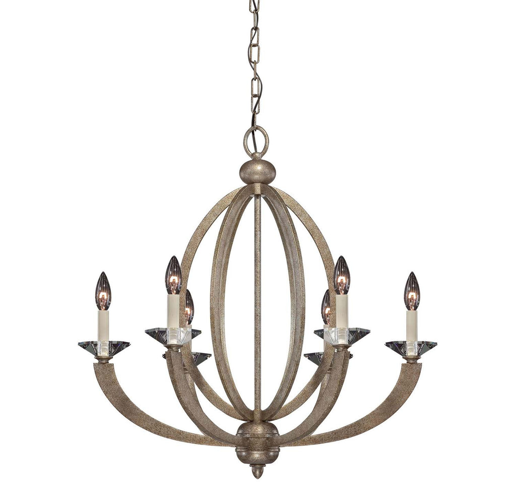 Savoy House - 1-1551-6-122 - Six Light Chandelier - Forum - Gold Dust