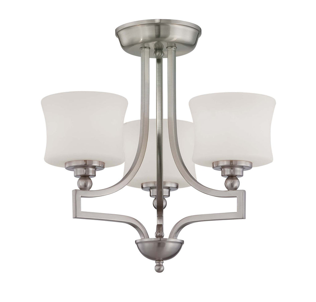 Savoy House - 6P-7213-3-SN - Three Light Semi Flush - Terrell - Satin Nickel