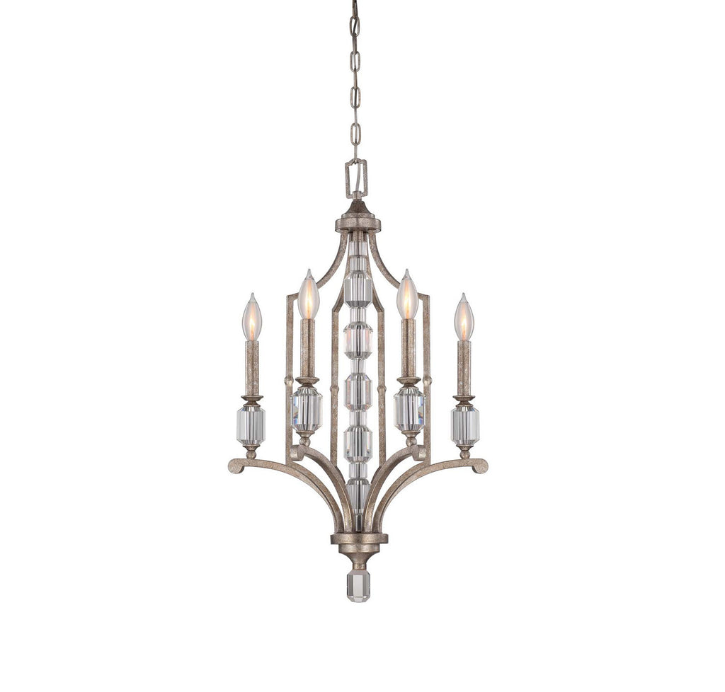 Savoy House - 1-7150-4-272 - Four Light Chandelier - Filament - Silver Dust