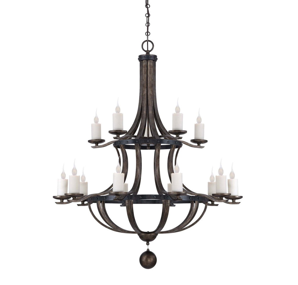 Savoy House - 1-9533-15-196 - 15 Light Chandelier - Alsace - Reclaimed Wood