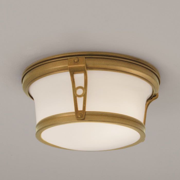 Norwell Lighting - 5383-AG-SO - Two Light Flush Mount - Leah - Aged Brass