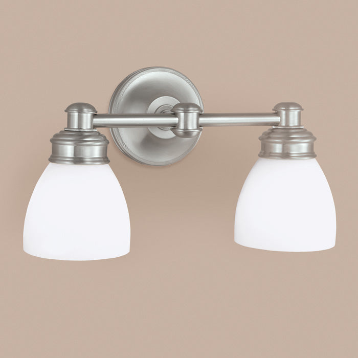 Norwell Lighting - 8792-BN-OP - Two Light Wall Sconce - Spencer - Brush Nickel