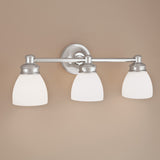 Norwell Lighting - 8793-CH-OP - Three Light Wall Sconce - Spencer - Chrome