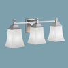 Norwell Lighting - 9713-CH-SO - Three Light Wall Sconce - Sapphire - Chrome