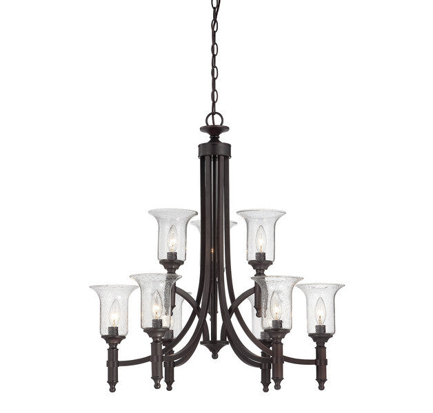 Savoy House - 1-7131-9-13 - Nine Light Chandelier - Trudy - English Bronze