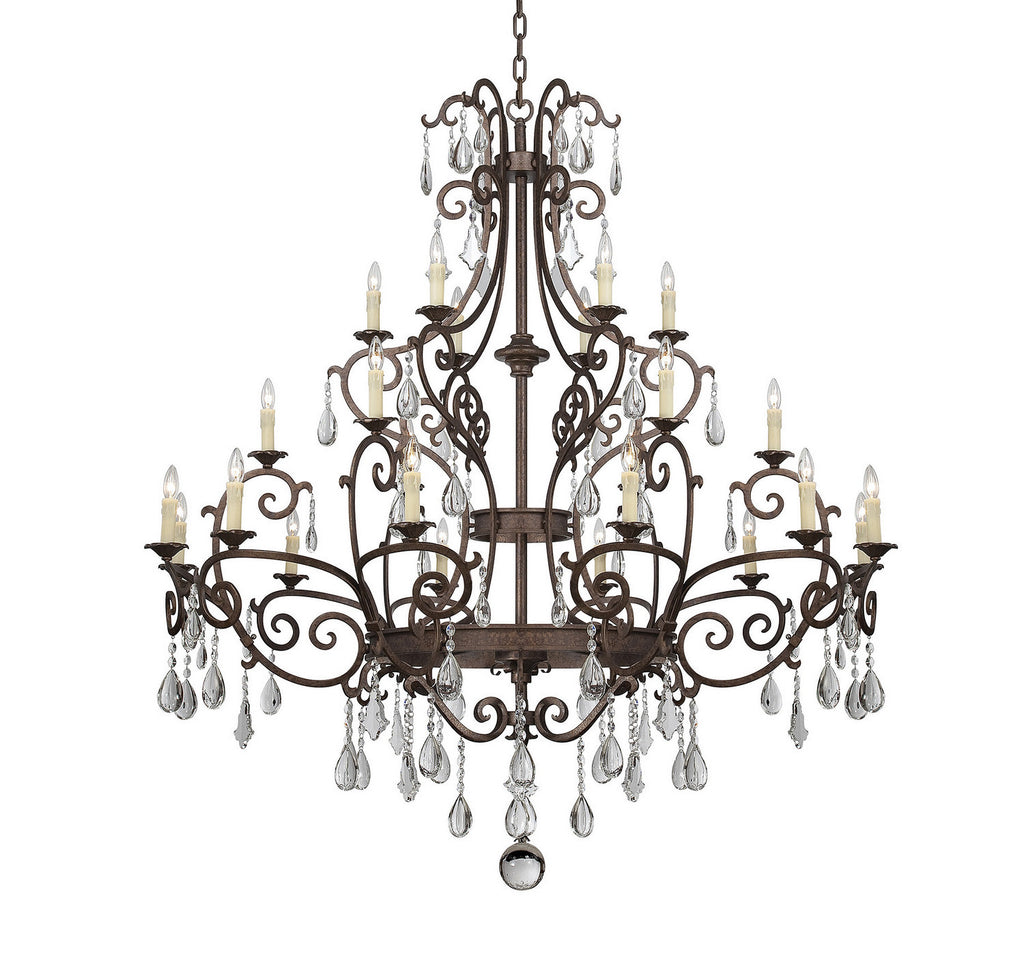 Savoy House - 1-1407-24-56 - 24 Light Chandelier - Florence - New Tortoise Shell