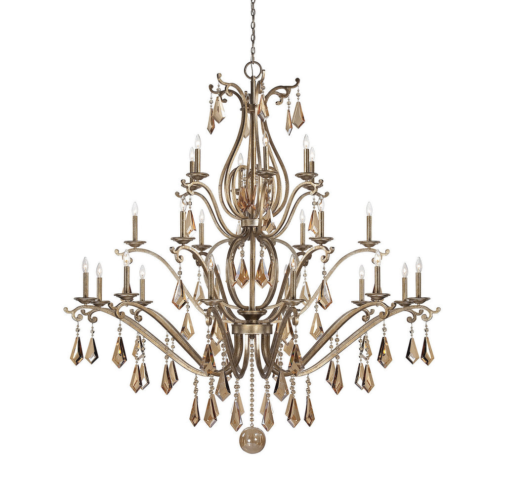 Savoy House - 1-8105-24-128 - 24 Light Chandelier - Rothchild - Oxidized Silver