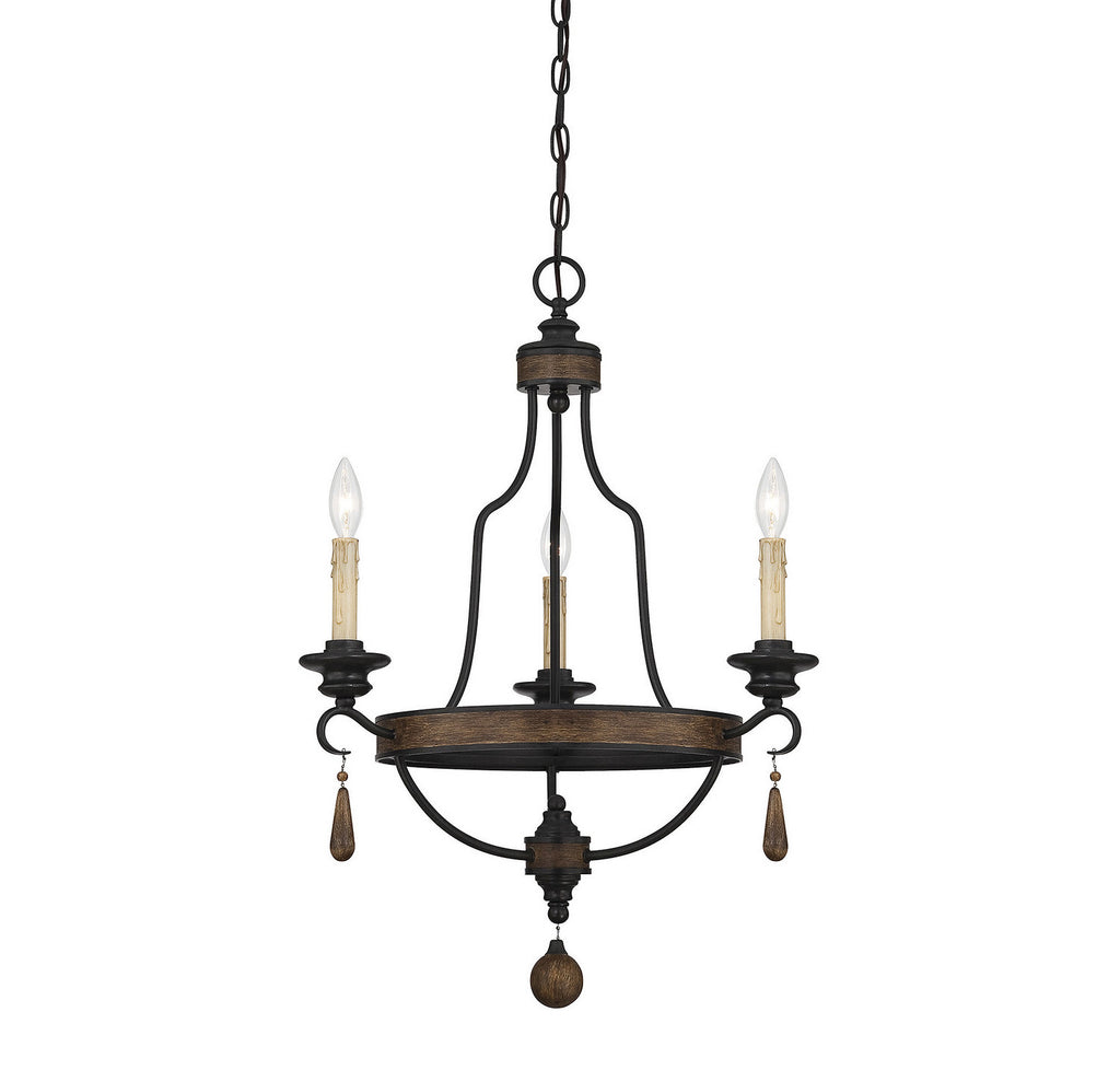 Savoy House - 1-8900-3-41 - Three Light Chandelier - Kelsey - Durango