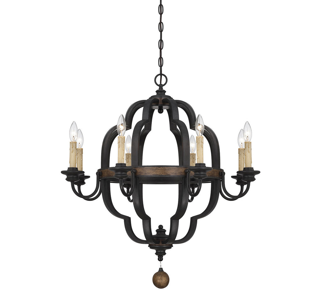 Savoy House - 1-8904-8-41 - Eight Light Chandelier - Kelsey - Durango