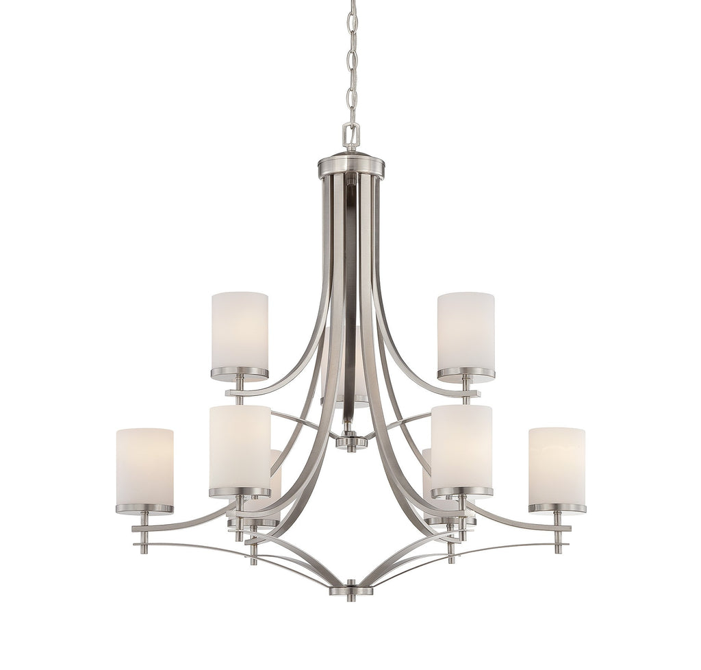 Savoy House - 1-331-9-SN - Nine Light Chandelier - Colton - Satin Nickel