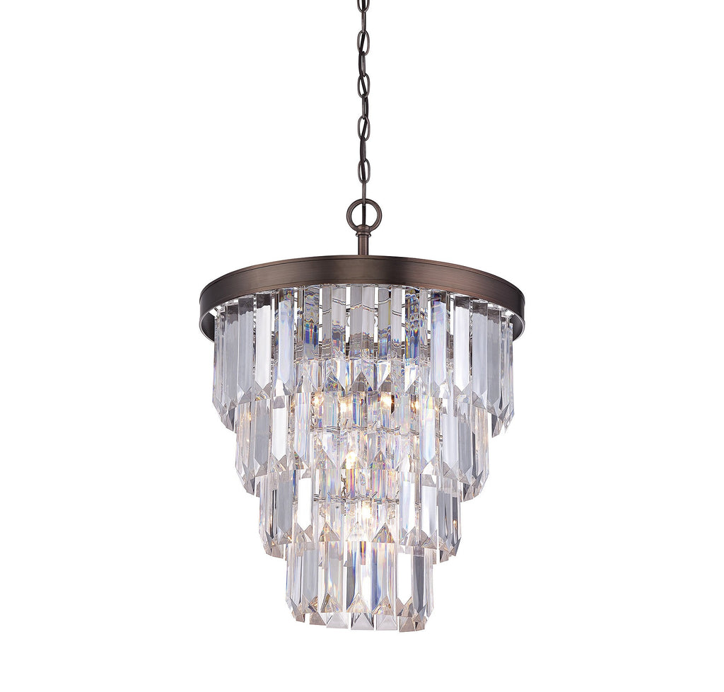 Savoy House - 1-9805-4-28 - Four Light Chandelier - Tierney - Burnished Bronze