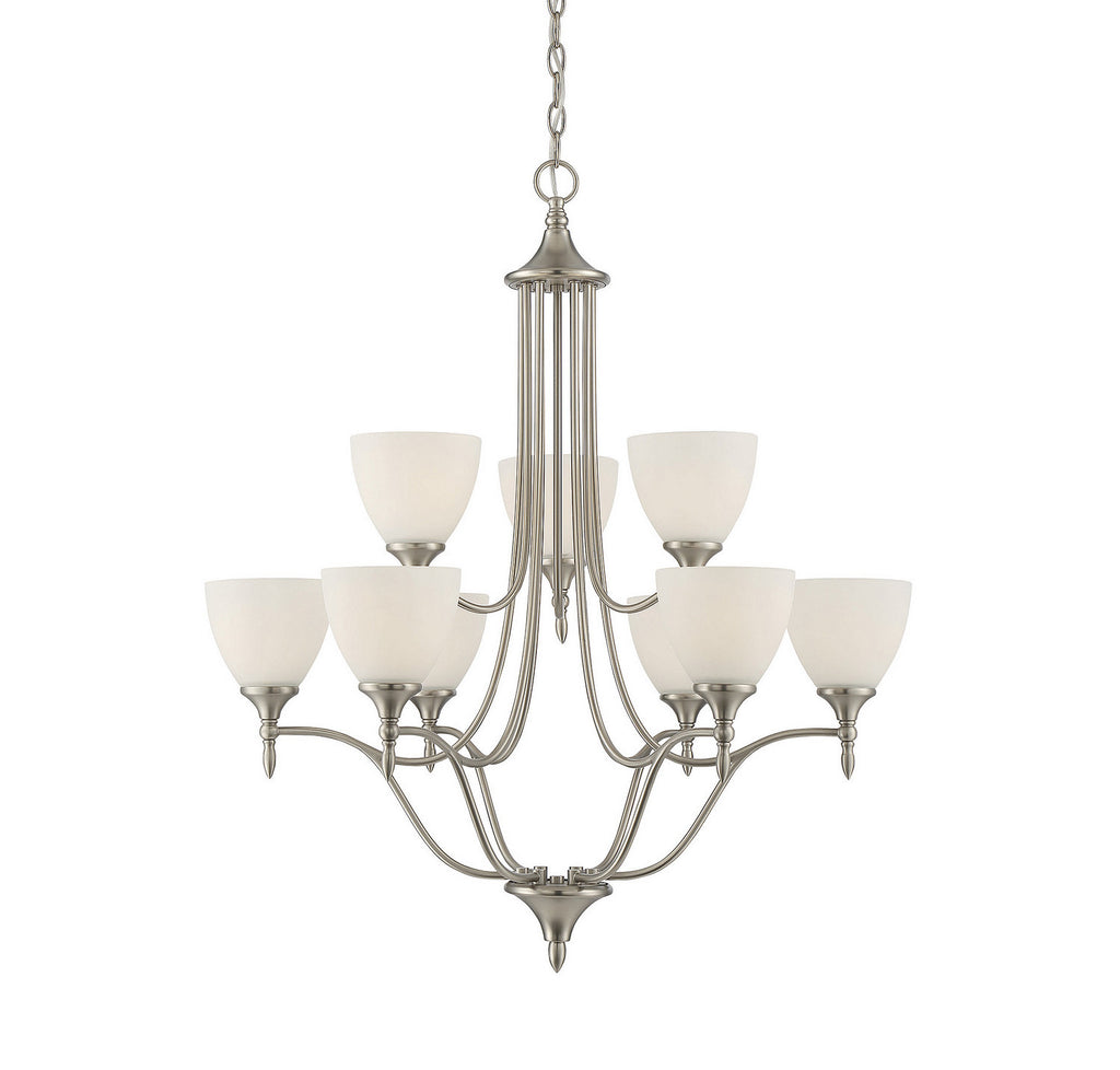 Savoy House - 1-1002-9-SN - Nine Light Chandelier - Herndon - Satin Nickel