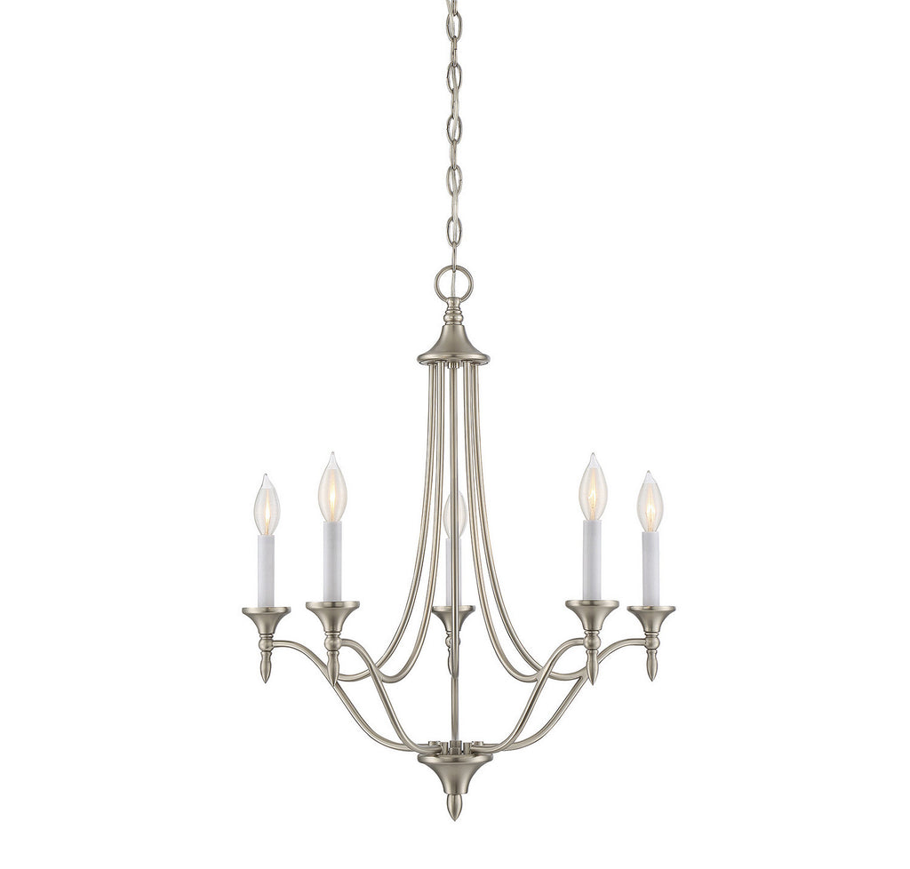 Savoy House - 1-1008-5-SN - Five Light Chandelier - Herndon - Satin Nickel