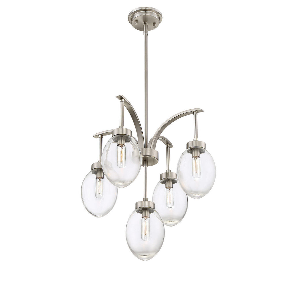 Savoy House - 1-540-5-SN - Five Light Chandelier - Ravenia - Satin Nickel