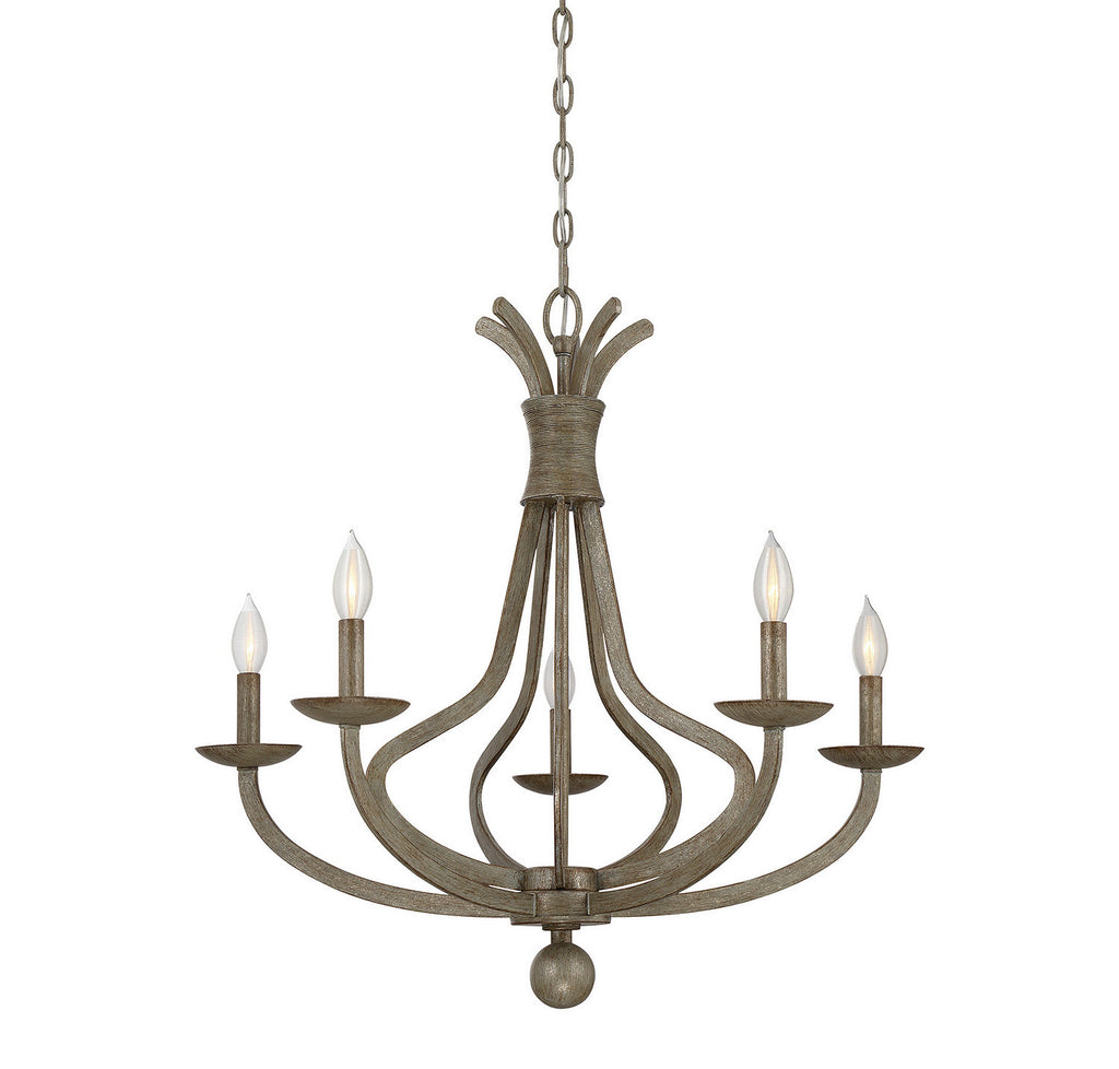 Savoy House - 1-761-5-12 - Five Light Chandelier - Rosette - Chateau Linen