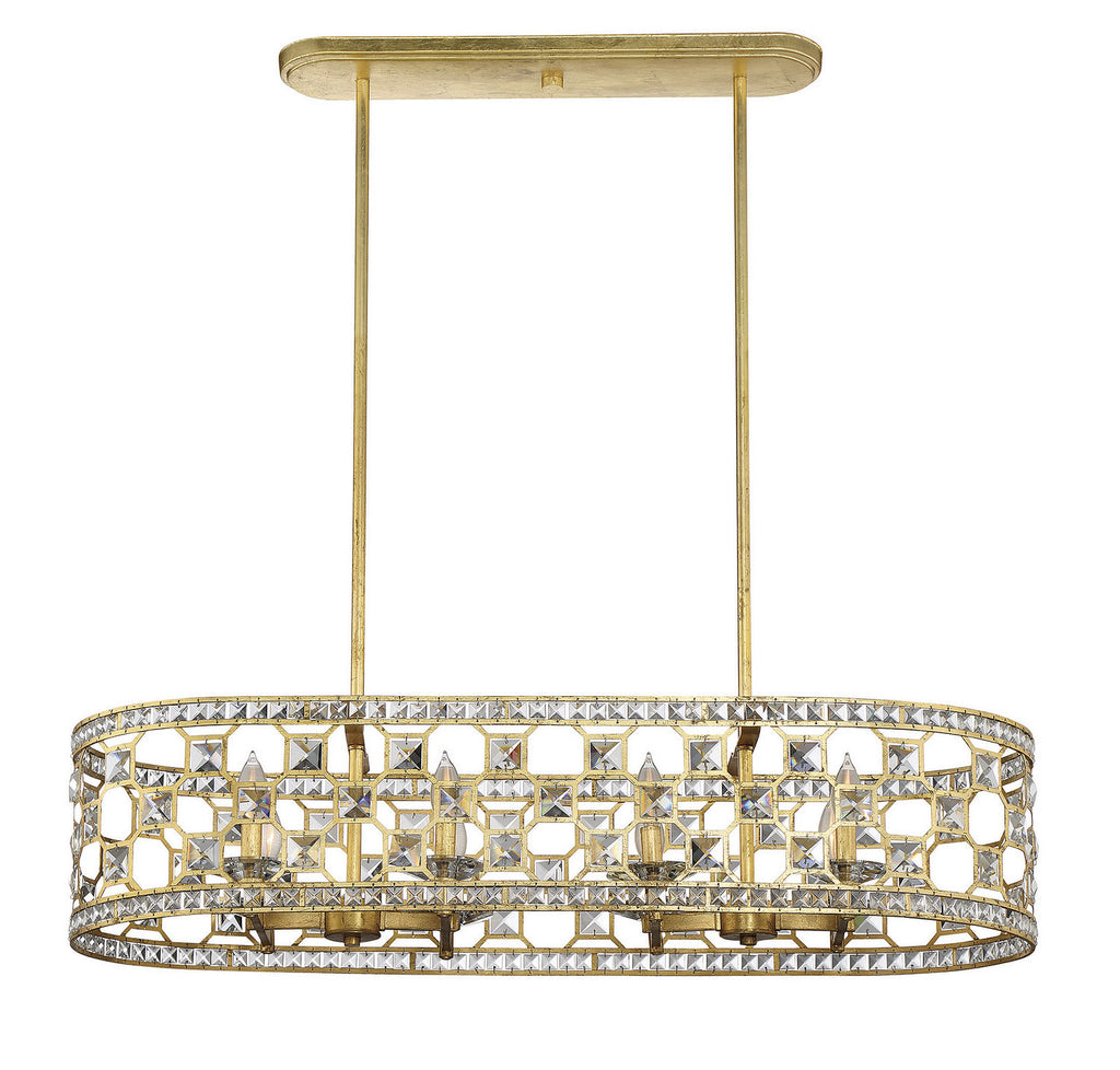 Savoy House - 1-841-8-33 - Eight Light Oval Chandelier - Clarion - Gold Bullion