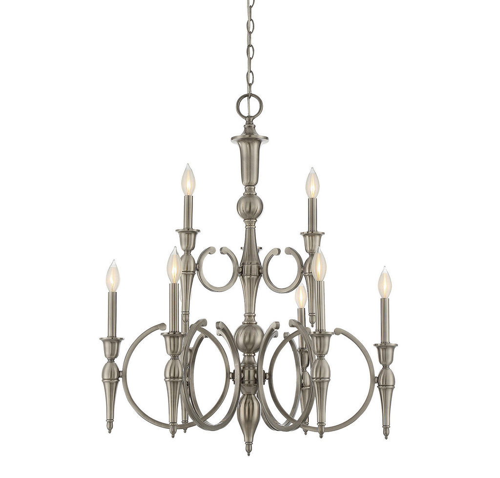 Savoy House - 1-861-9-57 - Nine Light Chandelier - Shannon - Polished Pewter