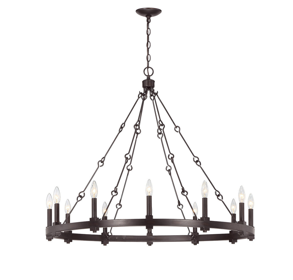 Savoy House - 1-931-12-13 - 12 Light Chandelier - Adria - English Bronze