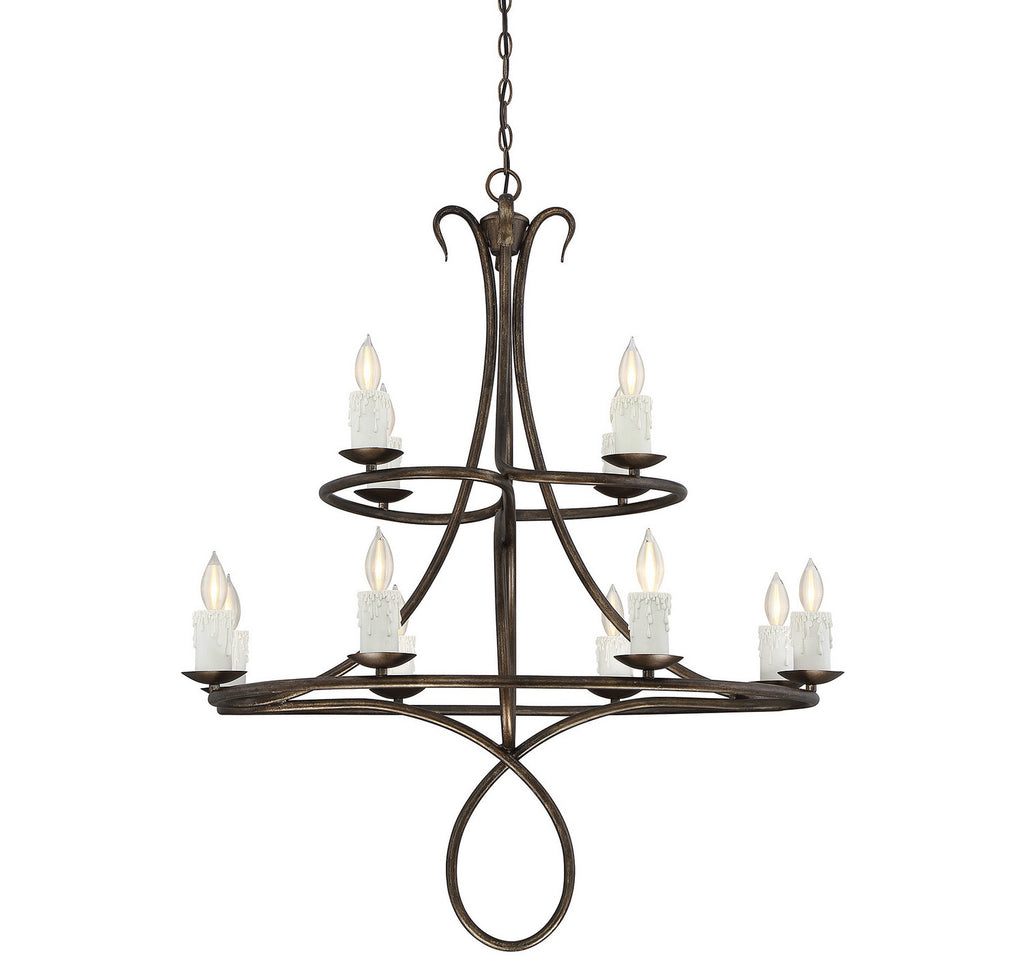 Savoy House - 1-171-12-131 - 12 Light Chandelier - Lynch - Guilded Bronze