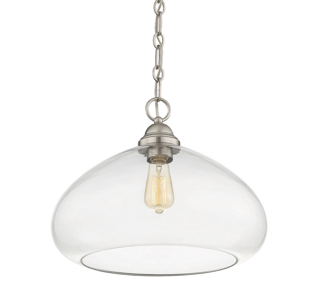 Savoy House - 1-2070-1-SN - One Light Pendant - Shane - Satin Nickel