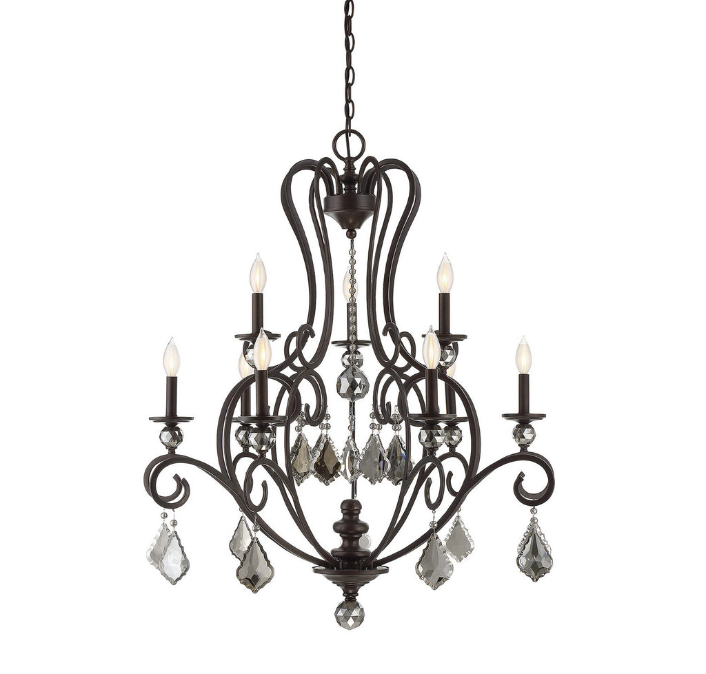 Savoy House - 1-2081-9-48 - Nine Light Chandelier - Stratton - Statuary Bronze