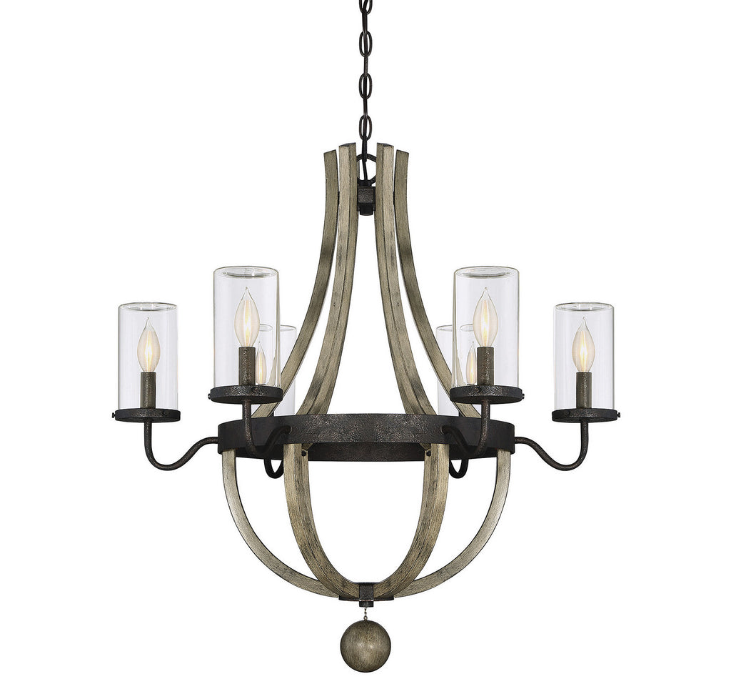 Savoy House - 1-2100-6-70 - Six Light Outdoor Chandelier - Eden - Weathervane
