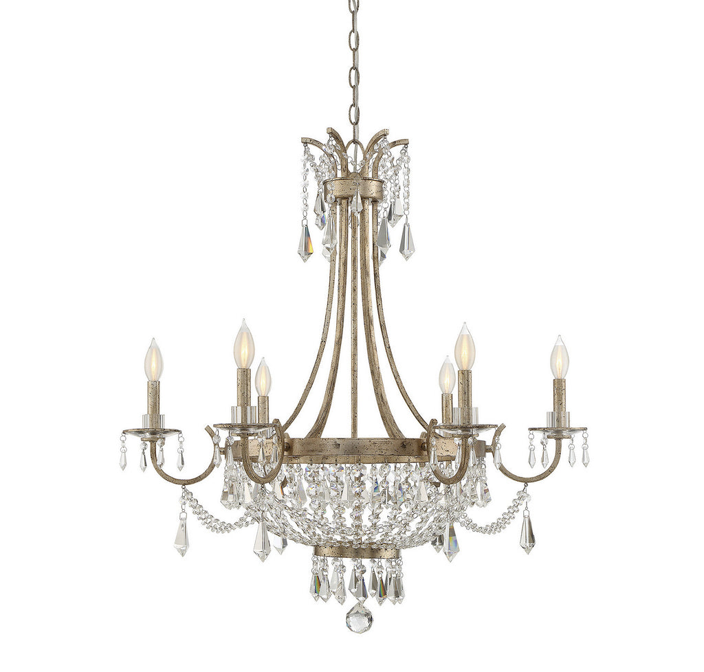 Savoy House - 1-3060-6-60 - Six Light Chandelier - Claiborne - Avalite