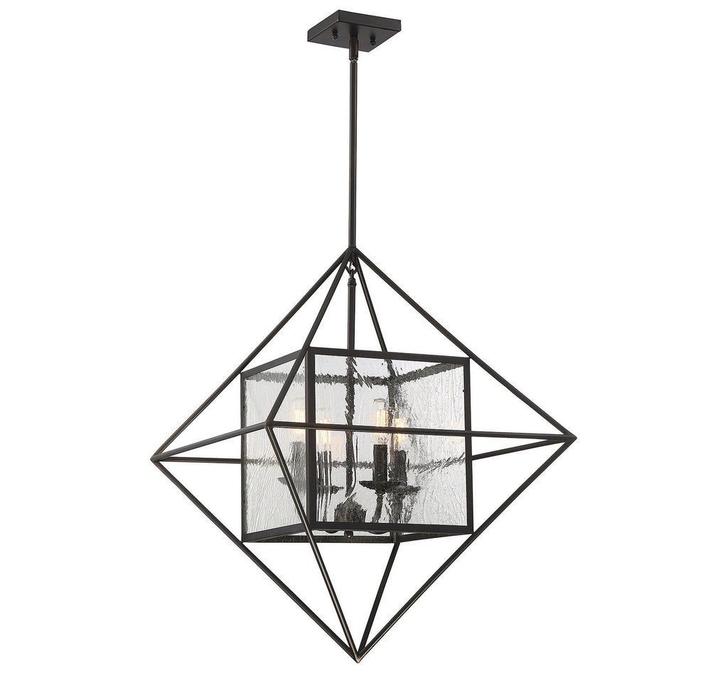 Savoy House - 1-489-4-13 - Four Light Pendant - Captiva - English Bronze