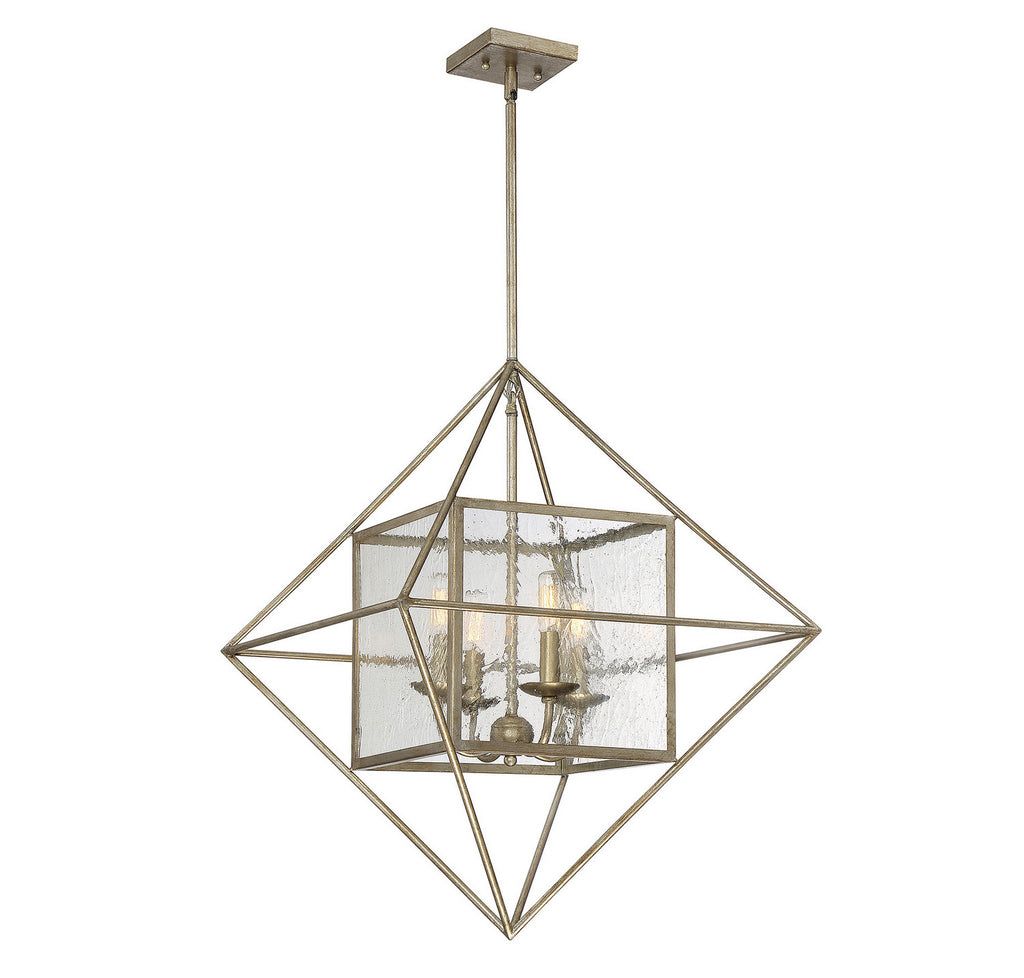 Savoy House - 1-489-4-211 - Four Light Pendant - Captiva - Argentum