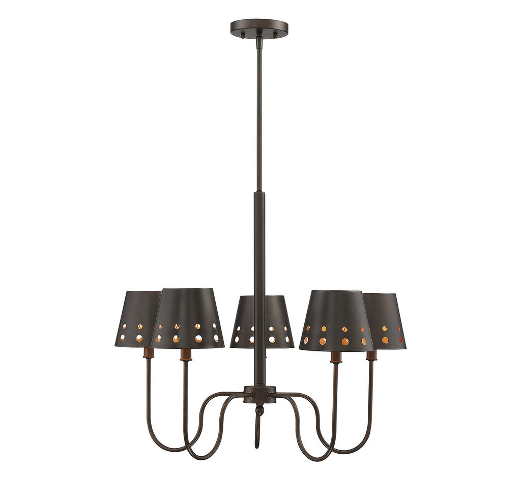 Savoy House - 1-6050-5-86 - Five Light Chandelier - Kimball - Cuprum