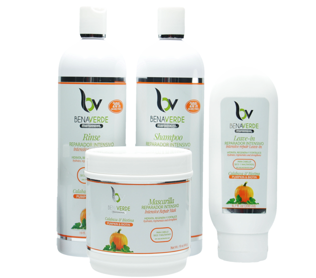 Benaverde Pumpkin and Biotin Hair Kit (4 Piece Set)