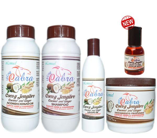 Leche de Cabra Coco y Jengibre Hair Kit (5 Piece set)
