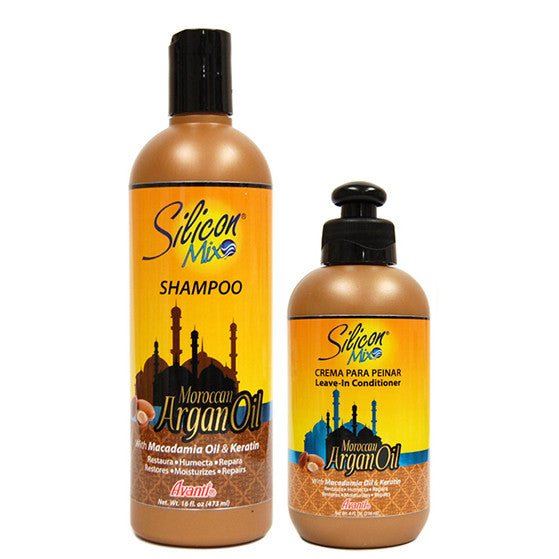 Silicon Mix Moroccan Argan Oil Shampoo and Leave-in