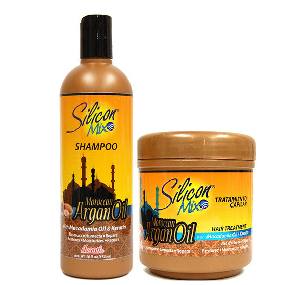 Silicon Mix Moroccan Argan Oil Shampoo and Treatment