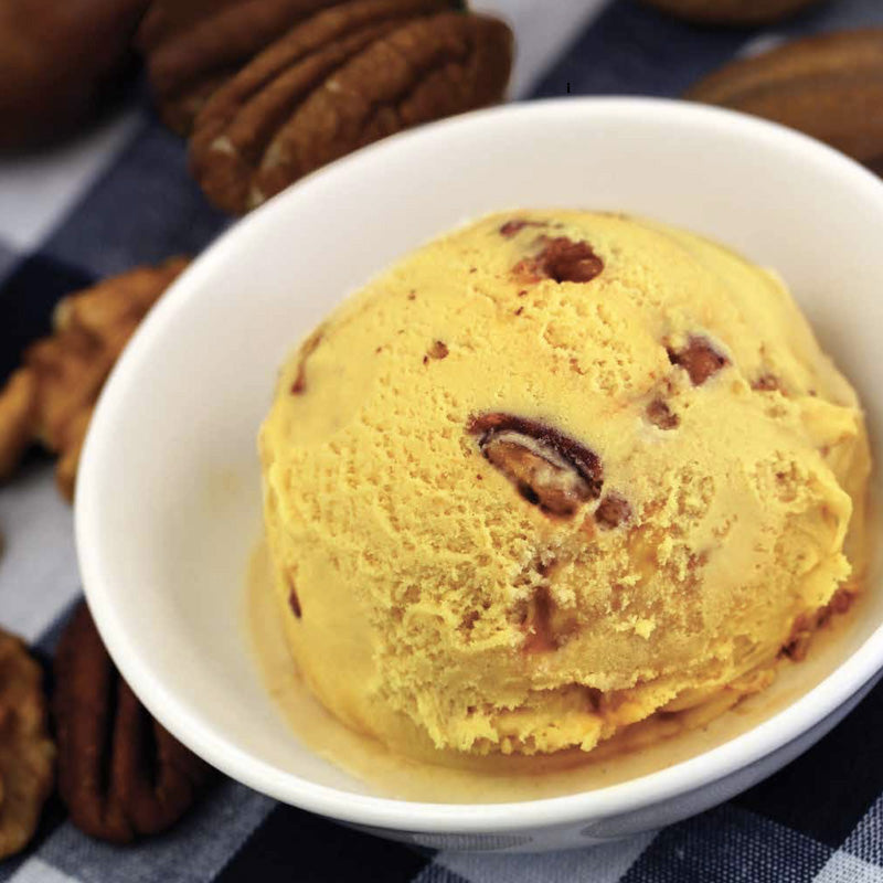 Butter Pecan, Organic Turmeric, Peach Ice Cream