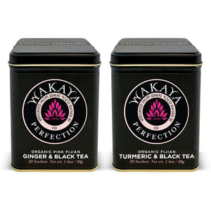 Organic Fijian Turmeric & Ginger Black Tea Combo (20 Sachets ea) - The Wakaya Group