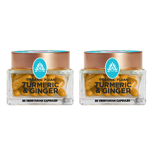 Wakaya Perfection Organic Fijian Turmeric & Ginger Capsules (500 MG | 30 CT) 2-Pack - The Wakaya Group