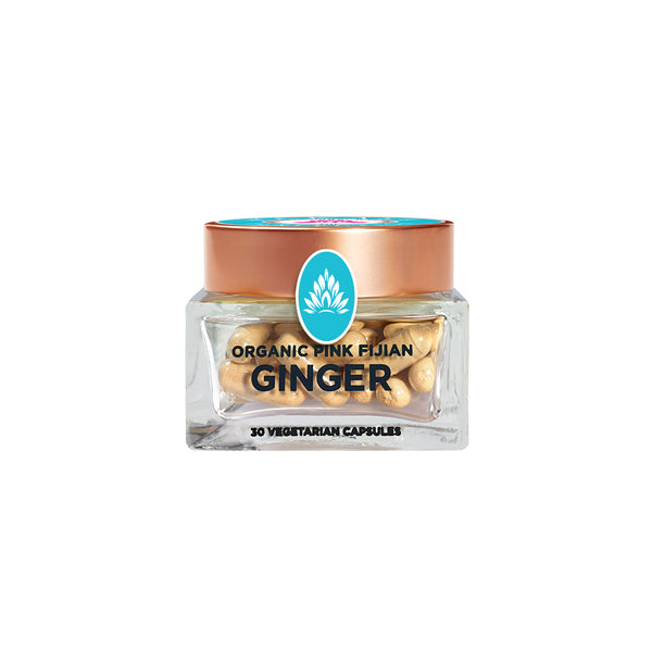 Wakaya Perfection Organic Pink Fijian Ginger Capsules (500 MG | 30 CT) - The Wakaya Group
