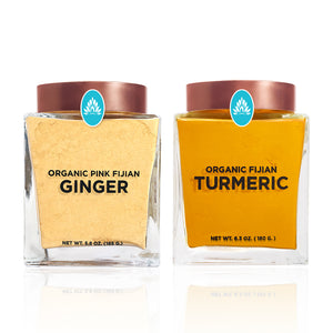 Organic Turmeric & Pink Fijian Ginger Powder Combination - The Wakaya Group