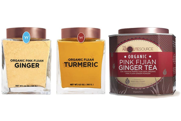 Organic Turmeric & Pink Fijian Ginger Powder & Organic Pink Fijian Ginger Tea - The Wakaya Group