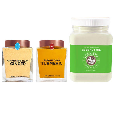 Organic Turmeric & Pink Fijian Ginger Powder & Coconut Oil Combination - The Wakaya Group