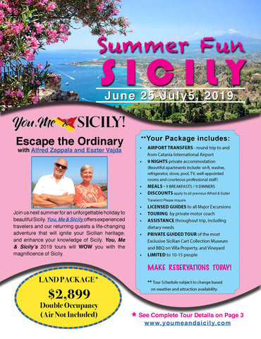 Summer Fun in Sicily 2019